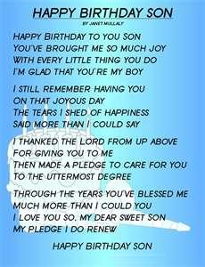 Birthday son poem