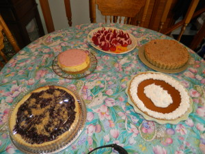 The desserts my mom made