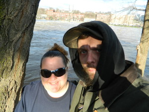 Hubby & I 4/20 at the Fish Ladder