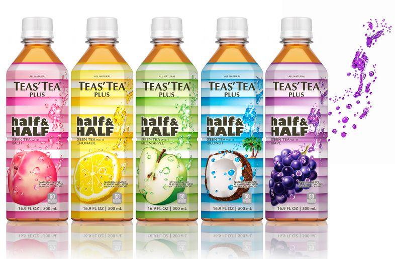 TEAS' TEA half&HALF green tea with a splash of fruit1