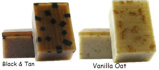 Black&Tan soap, Vanilla Oat soap