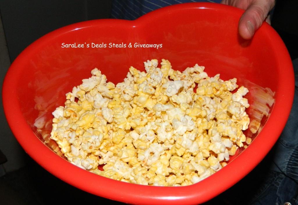 eatting popcorn