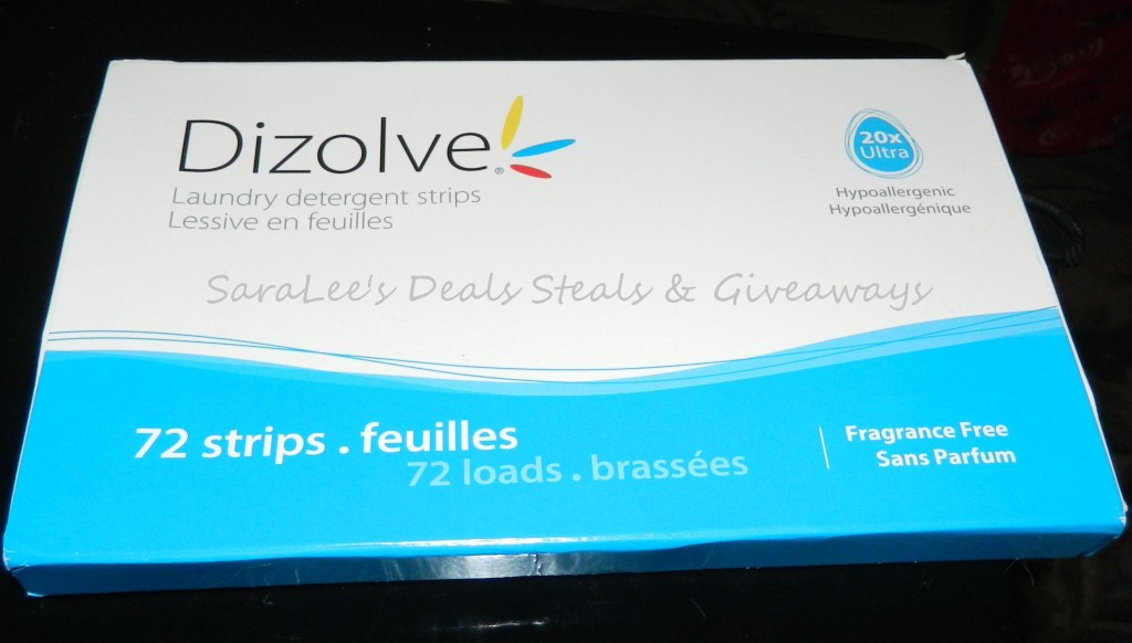Enter to win Dizolve Ultra Laundry Detergent Strips. Ends 11/11.
