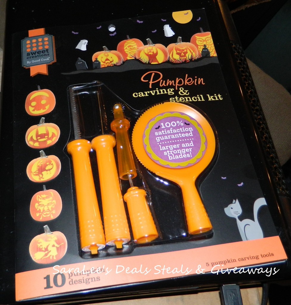 Enter to win the Sweet Creations Pumpkin Carving Kit. Ends 10/31.