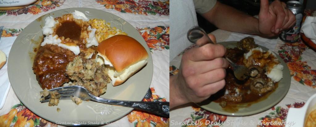 Hubbys & I's dinner plates