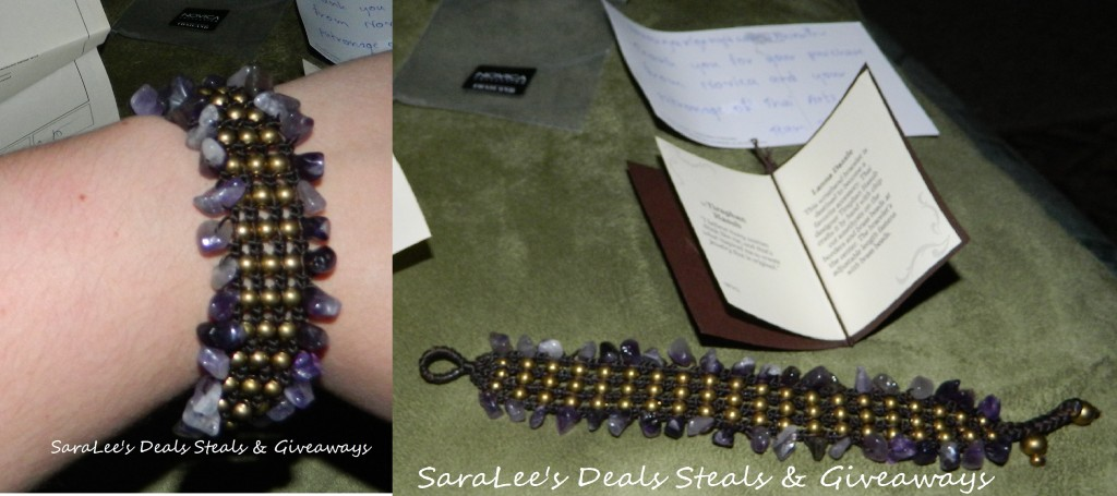Amethyst wristband bracelet