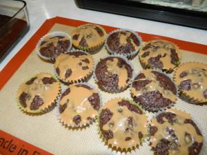Caramel over cupcakes