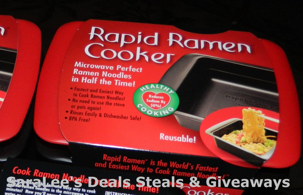Enter to win the Rapid Ramen Cooker. Ends 12/13.