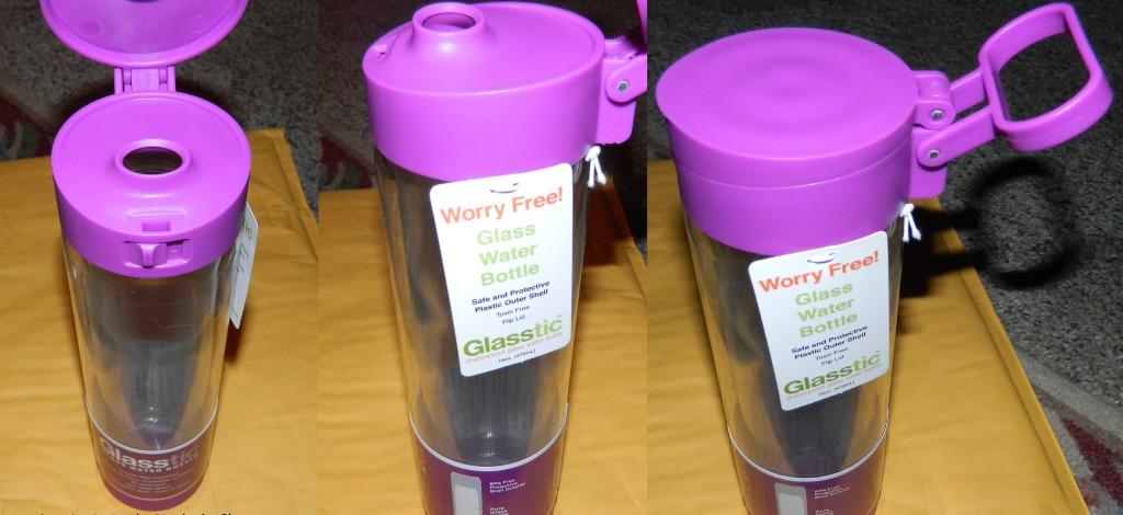 lasstic Shatterproof Glass Water Bottle