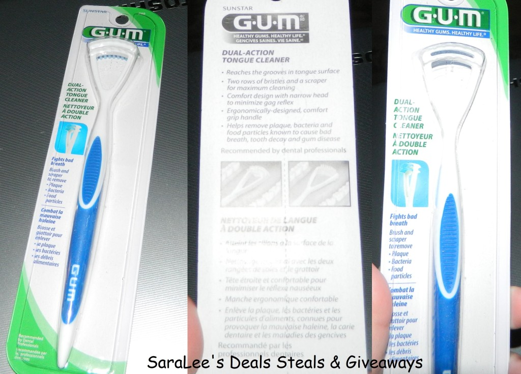 GUM Dual Action Tongue Cleaner