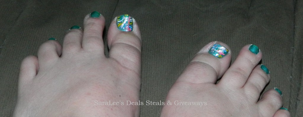 toes painted
