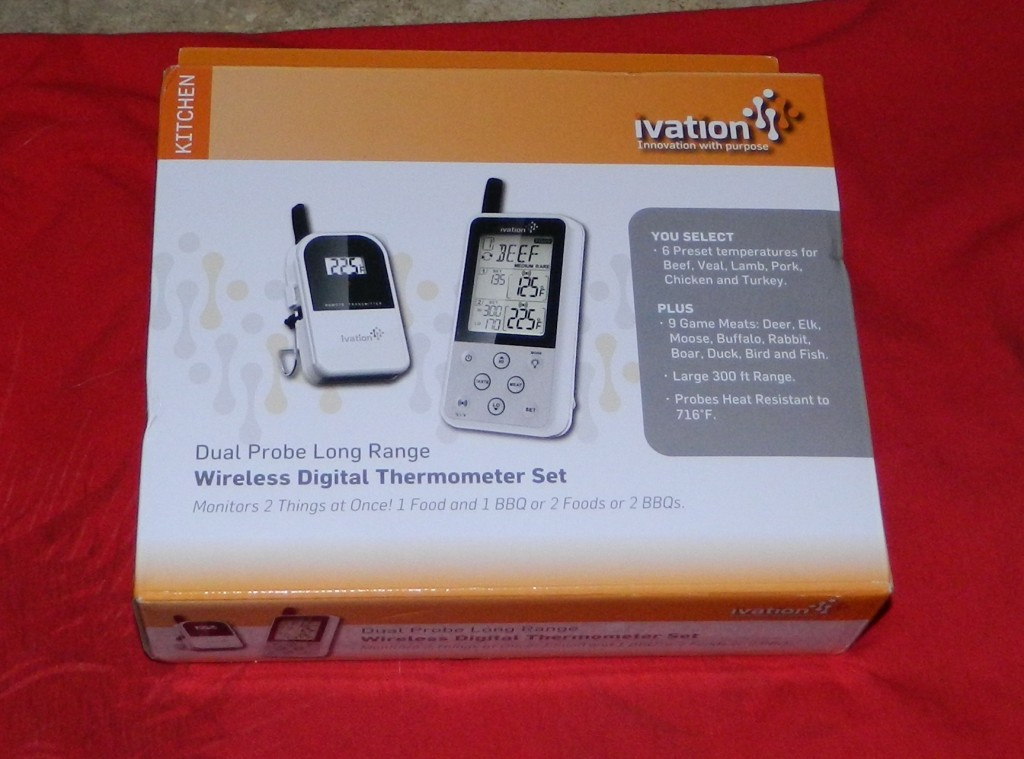 Ivation Extended Range Wireless Cooking Thermometer