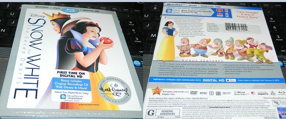 Snow White & The Seven Dwarfs Blu-Ray + DVD + Digital HD