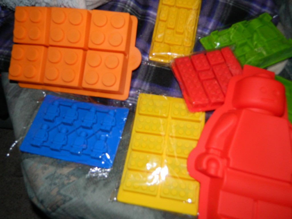 Candy and Cake Builder Block Molds 8pc Set High Quality Silicone