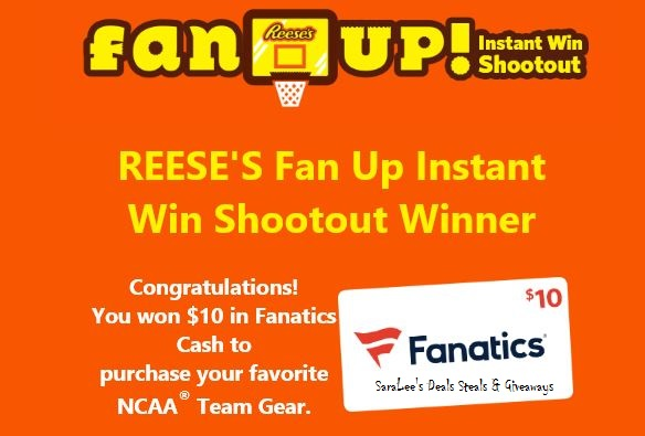 Reese's - Fan Up Sweepstakes and Instant Win Game
