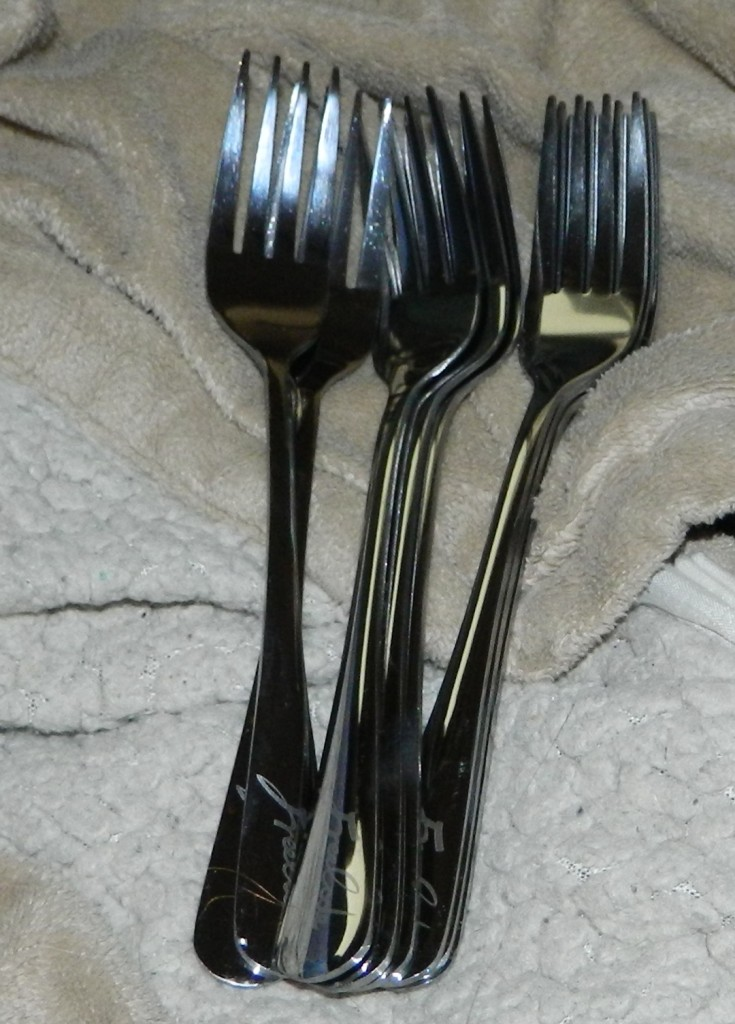 6.8-inch High Quality Silver Stainless Steel Dinner Forks