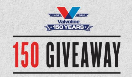 Valvoline - 150 Instant Win & Sweepstakes