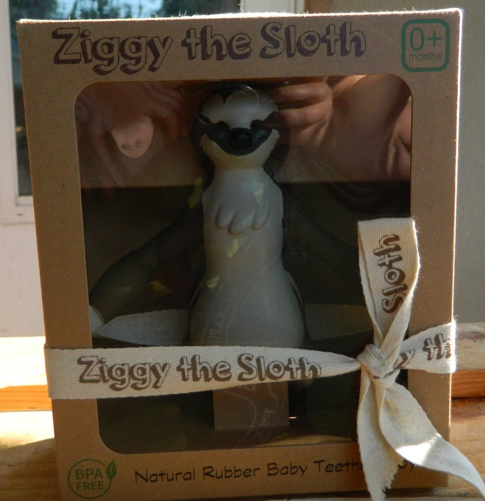 Ziggy the Sloth Baby Natural Teether Toy