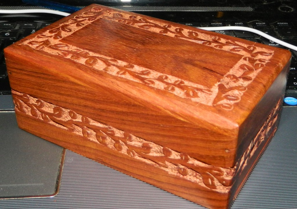 Quality Rosewood Hand Carved Cremation Urn by Quality Wood Urns