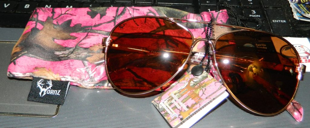 Hornz Pink Camouflage Polarized Aviator Sunglasses for Women