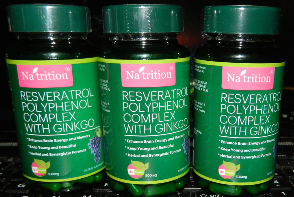 Resveratrol, GInkgo, Grape Seed Extract Capsules