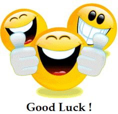 Good Luck happy Face