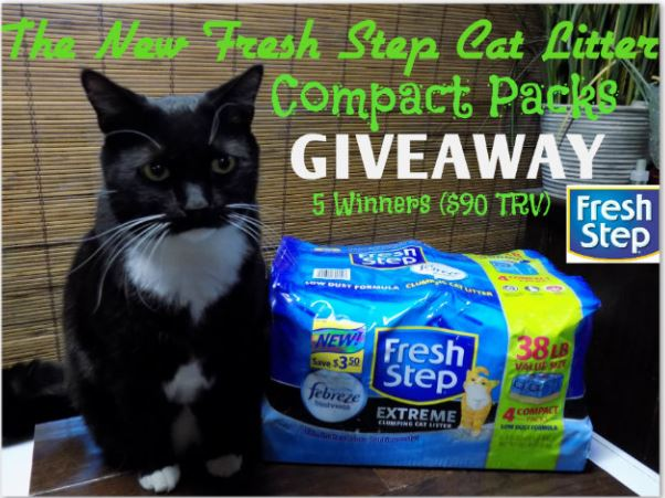 The New Fresh Step® Cat Litter Compact Packs Giveaway! Ends 2/26 (5 Winners Total $90 TRV)